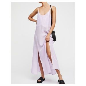 Free People Jailsalmer Silk Slip in Lavender S